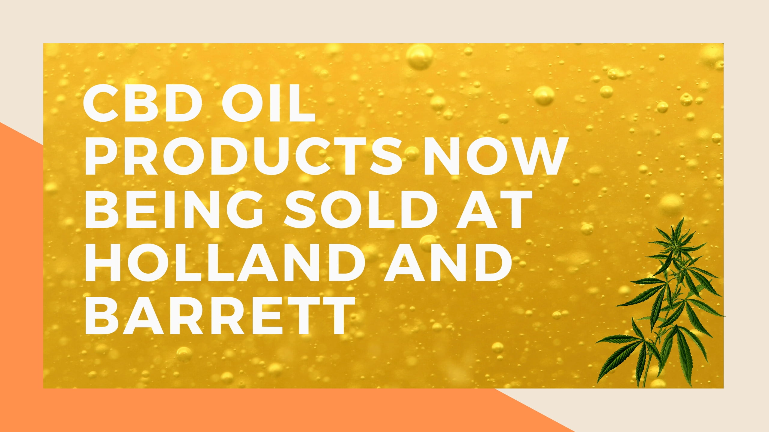 CBD oil products now being sold at Holland and Barrett