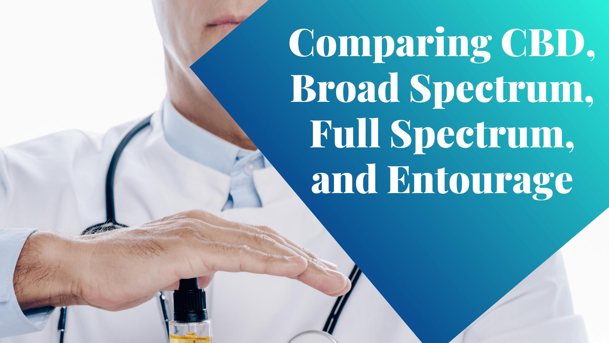 Comparing CBD, Broad Spectrum, Full Spectrum, and Entourage²